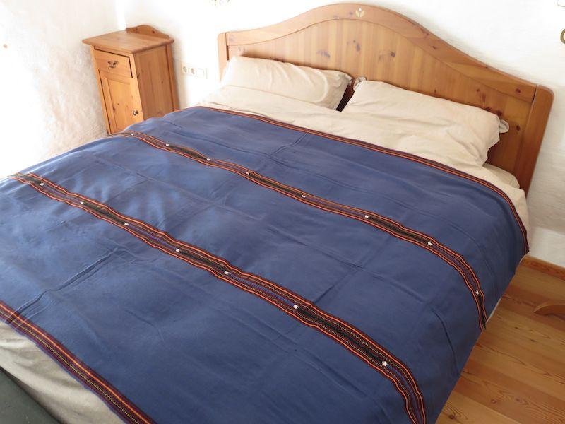 Mayadecke einfärbig manganblau
