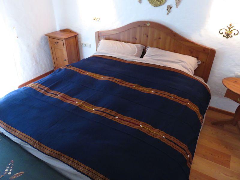 Mayadecke einfärbig marinblau