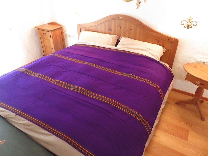 Mayadecke einfärbig violett