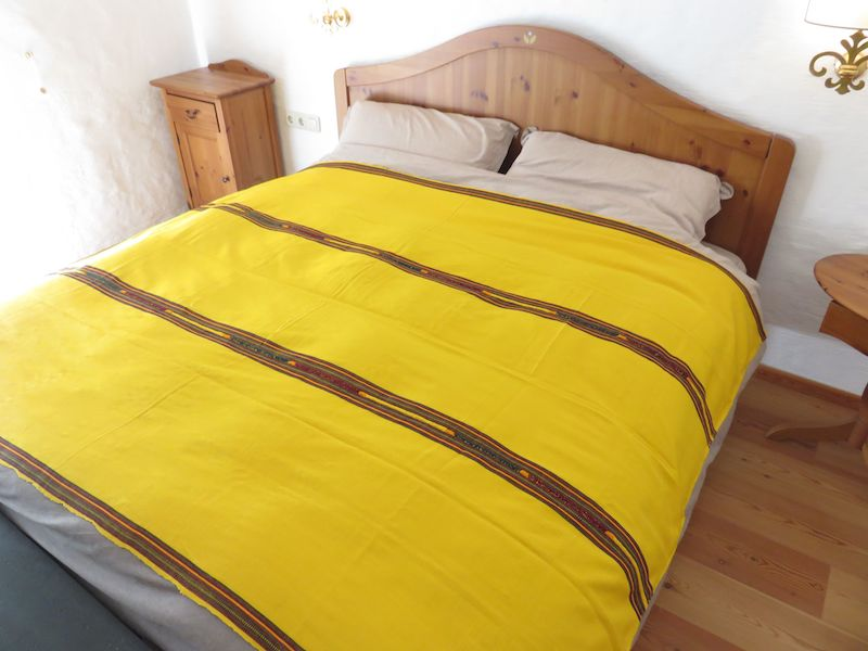 Mayadecke einfärbig gelb