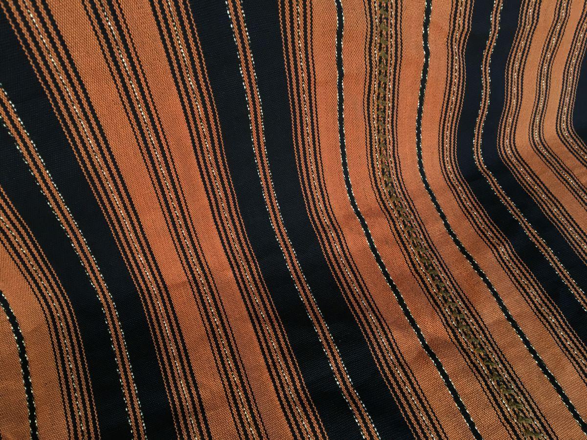 Natur Mayadecke goldbraun-dunkelblau