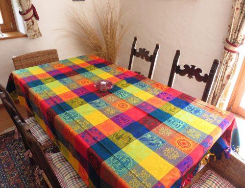 "Angebot der Woche: Mantel ""Multicolor"" mit Mayamotiven"