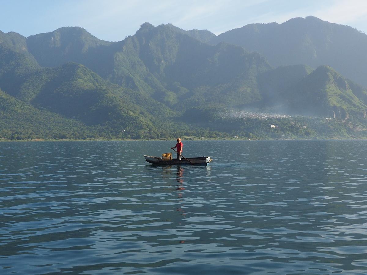 Fischer am Atitlán-See